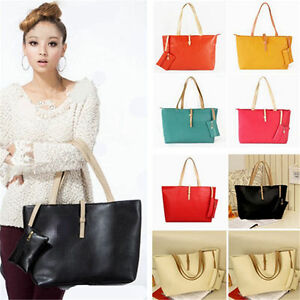 Fashion Women Leather Shoulder Bag Handbag Purse Messenger Shopper Tote Satchel