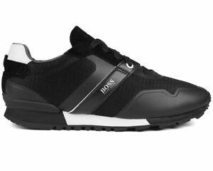 Hugo-Boss-Parkour-Runn-Meth-50412232-001-Sneaker-Uomo-Nero-Scarpe-Da-Ginnastica-Scarpe
