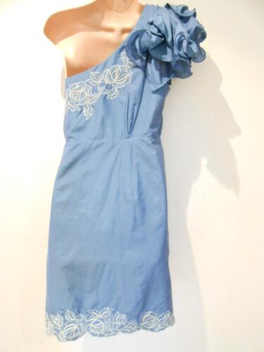 16 Silk dritto Blue sera 160 Monsoon Abito £ nuovo One 00 da Taglia Shoulder FvnHw0aq