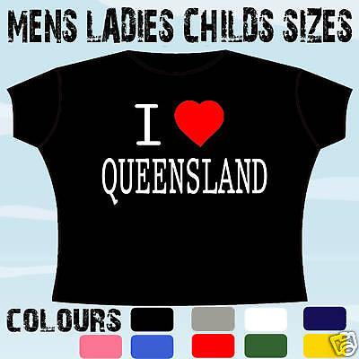 I Love Heart Victoria Australia Adults Mens T Shirt 12 Colours Size S 3XL