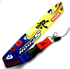 JDM FORD RACING NYLON DOUBLE SIDE Lanyard Neck Strap KeyChain Quick Release