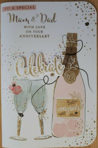 Mam and Dad wedding anniversary card ~ various designs