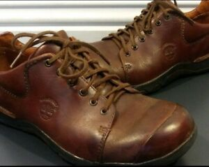 timberland smart comfort system mens brown leather casual
