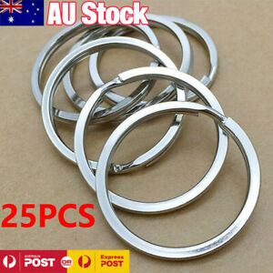 25PCS-304-Stainless-Steel-Key-Holder-Split-Rings-Keyring-Keychain-Keyfob-32mm-AU
