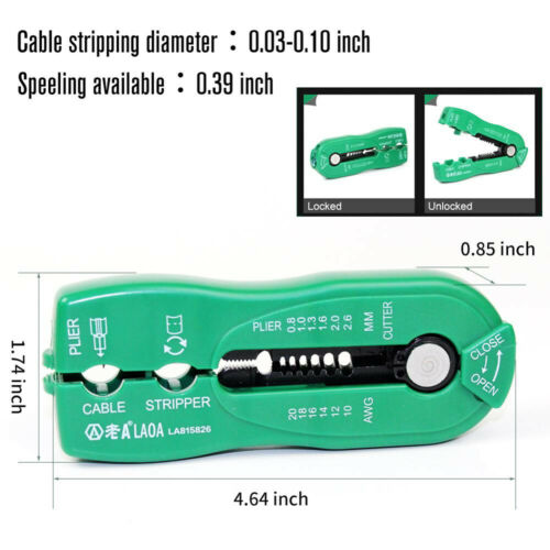 Multifunction Wire Cuter Cable Crimper Stripper Mini Hand Tool Electrical Tools