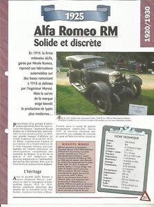 FICHE AUTOMOBILE - ALFA ROMEO RM 1925 jy7RcZeK-09153524-833566224