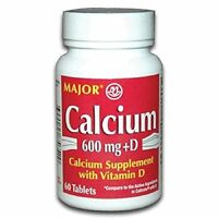 3 Pack Major Calcium With Vitamin D3 Tablets 600mg 60 Count Each on sale
