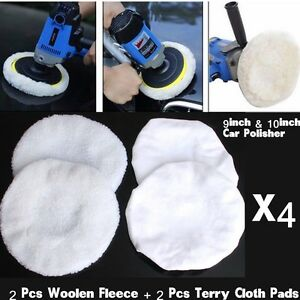 "Car Wash Soft Wool 9 -10"" INCH MICROFIBER BUFFING PAD POLISHING BUFFER POLISHER"