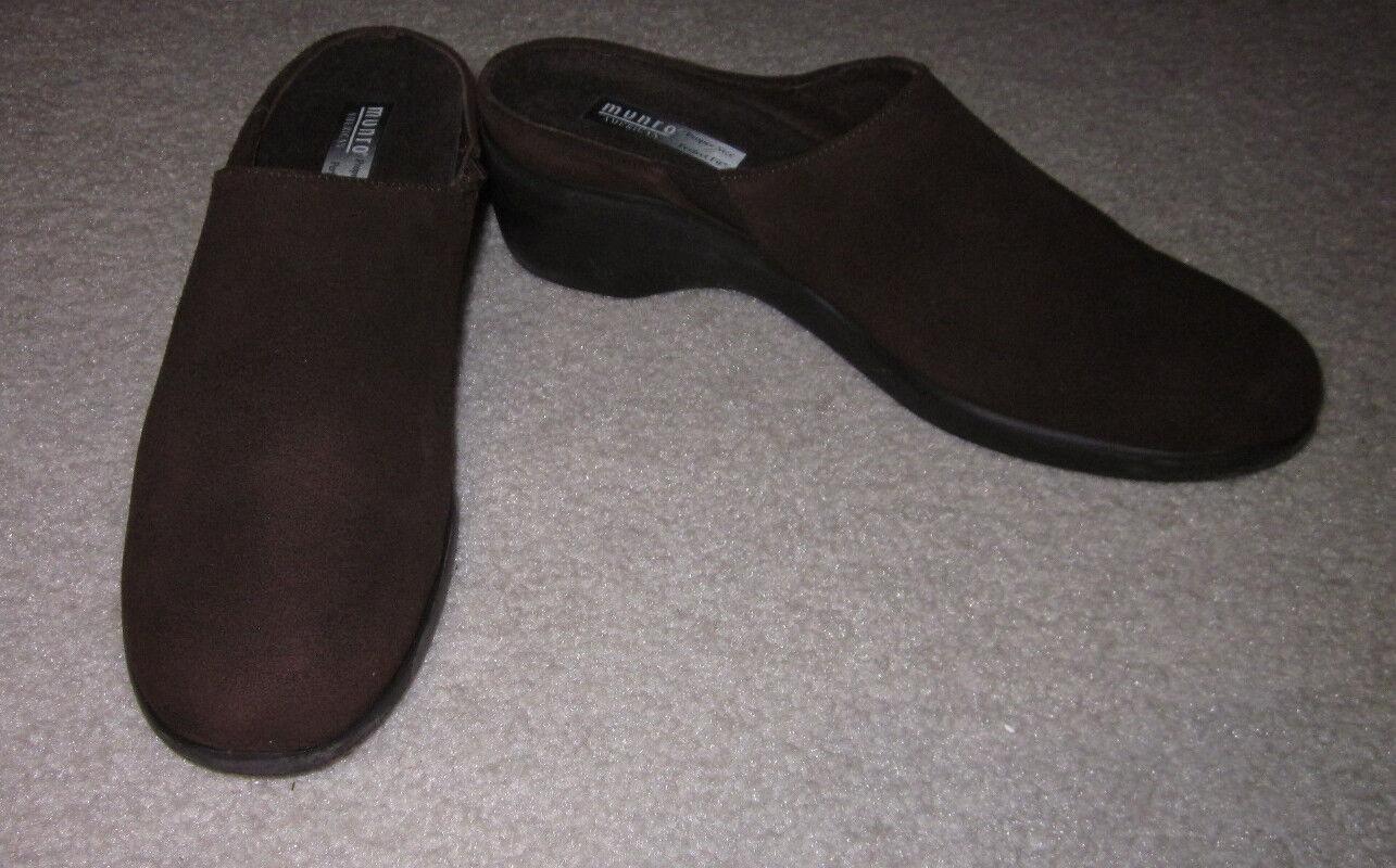 Munro damen Heels braun Suede Leather Mules Heels damen 9.5 N ba01ed