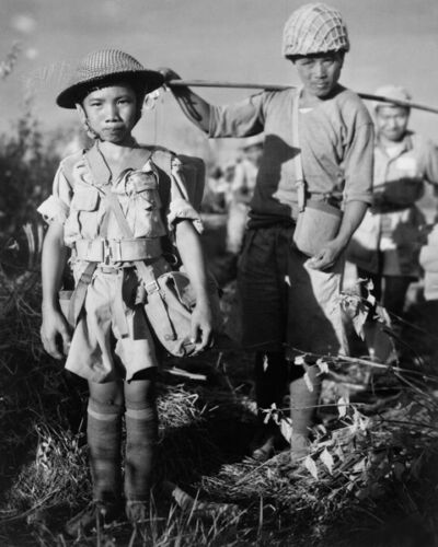 10-YEAR-OLD CHINESE CHILD SOLDIER 8X10 PHOTO WWII 1944