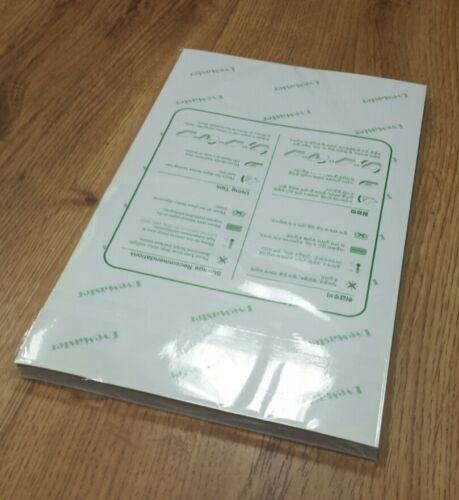 Dye sublimation paper, 8.5 x 14 sheets