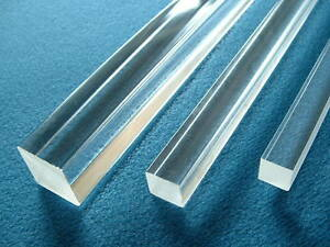 8mm-x-8mm-Clear-Acrylic-SQUARE-Profile-500mm-length-Rigid-Plastic-Bar-Section