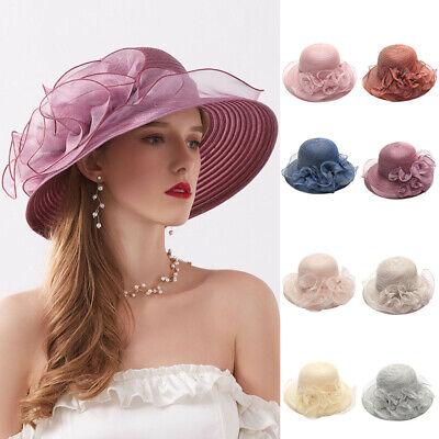 Benficial Womens Organza Church Kentucky Derby Fascinator Bridal Tea Party Wedding Hat