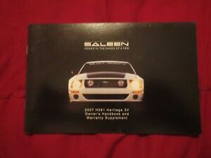 2007 saleen ford mustang h281 heritage 3v factory unused original rh ebay com 2007 ford mustang owners manual download 2007 ford mustang owners manual free