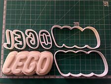 Lego logo Biscuit Cookie Cutter Fondant Cake Decorating Mold
