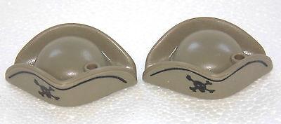 2 X Tre Cappello A Punta Grigio Teschio Per Molla Playmobil A Pirata Rotrock Guardia 1062- Sapore Fragrante (In)