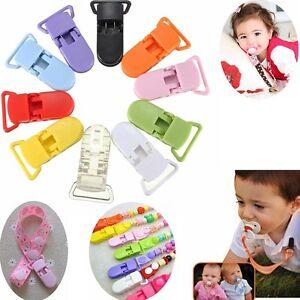 1cf96982b112c Détails sur 50 Pcs Pince à Tétine Plastique Clip Attache Sucette Bretelle  Pour Bébé Enfant