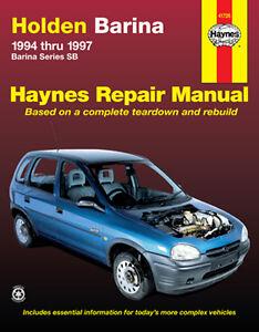 holden barina sb workshop repair manual mpn ha41726 ebay rh ebay com au Nissan Pulsar Holden Barina Hatch