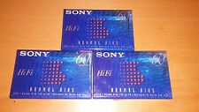 3 Blank Sony Hi Fi 60 min type 1 Normal Bias SEALED (cassette tape)