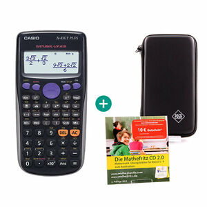 Casio FX 83 GT Plus Taschenrechner + Schutztasche und MatheFritz Lern-CD