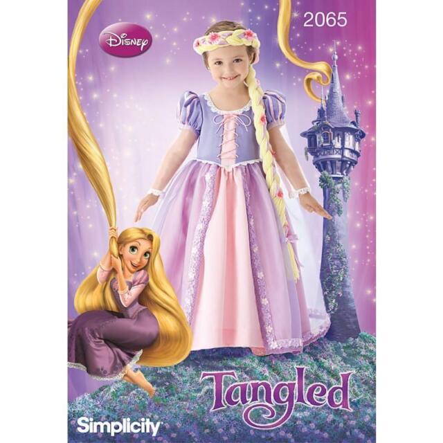 Simplicity nähe Muster Disney\'s Tangled Kinder Rapunzel Kostüm 3 - 8 ...