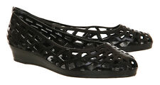 New In The Packet JuJu Christabel Wedge Black Jelly Shoes UK Size 4
