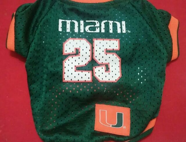 big sale d1f6d 44fe6 Pets First 23508067917 Miami Hurricanes Dog Jersey Xtra Small