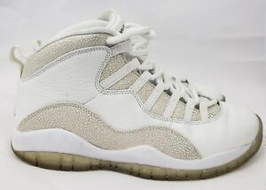check out 2c427 06e00 Details about Nike Air Jordan 10 Retro OVO White Gold MENS Style #  819955-100 Size 9 Drake