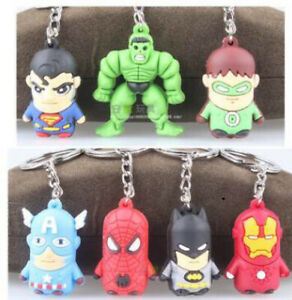 Keyrings-Superman-Batman-Spiderman-Iron-Man-Green-Lantern-Hulk-Captain-America