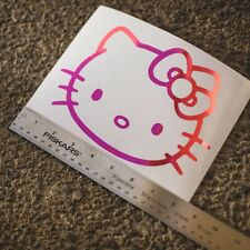 "8"" Hello Kitty Head Face Bow Car Truck Wall Vinyl Window Decal Decals Sticker"