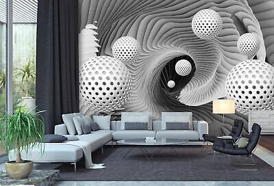 VLIES FOTOTAPETE 3D Kugeln Formen abstrakt Hintergrund Tapete XXL Vliestapete