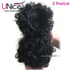 2Pcs/Lot Freetress Equal Drawstring Ponytail Black Lovely Afro Curly Hair Weft