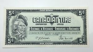 1974-Canadian-Tire-5-Five-Cents-CTC-S4-B1-AM-Circulated-Money-Banknote-E121
