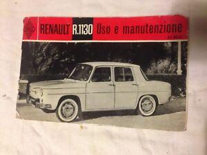 Renault-R1130-Renault-8-dauphine-libretto-uso-e-manutenzione-originale
