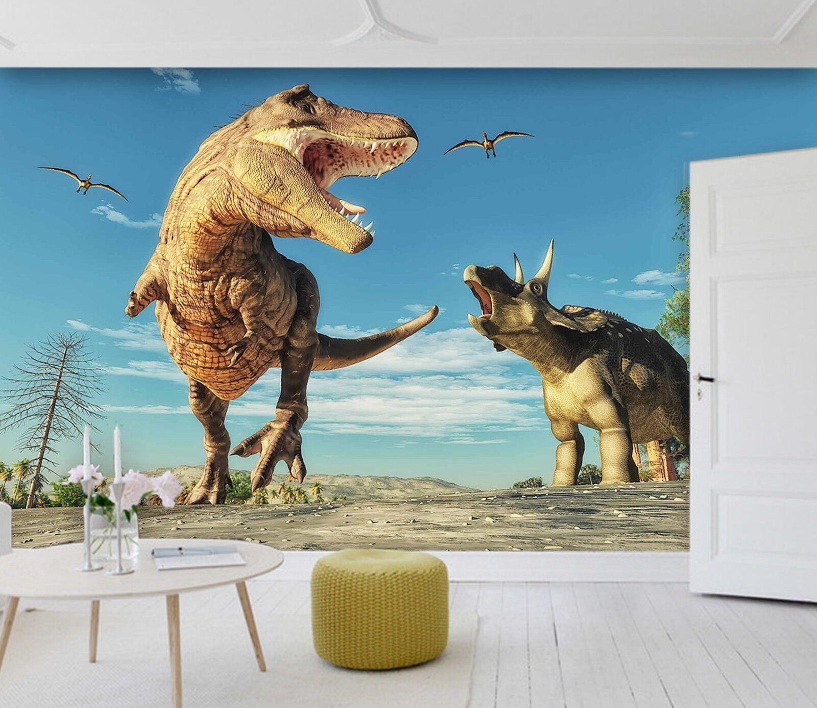 3D Dinosaur War Era 8 Wallpaper Mural Print Wall Indoor Wallpaper Murals UK