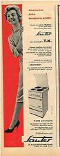 PUBLICITE ADVERTISING  1958  SAUTER  cuisinière éléctrique