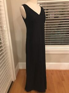 fb389bbb41c Banana Republic - Size 4 - Black 100% Linen Sleeveless Midi Dress ...