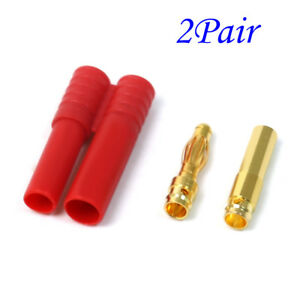 10 Pairs NEW RC 3.5mm Male//Female Gold-plated Bullet Banana Plug Connector