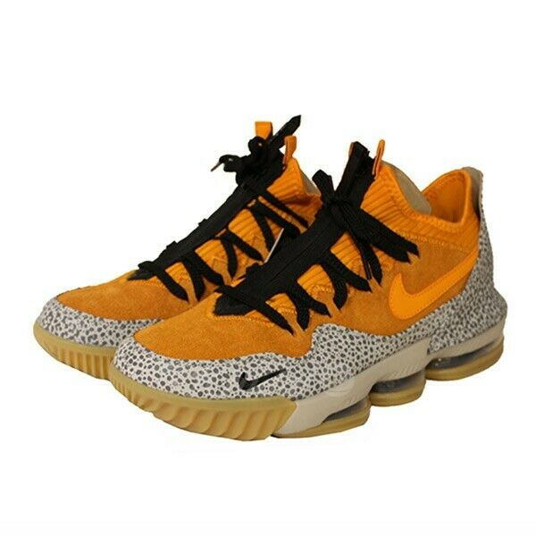NIKE LEBRON 6 XVI Faible ATMOS SAFARI paniers Orange Taille 26.5 cm 260319 NA (51922