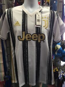 Adidas Juventus Home 2020-21 White Black Gold Soccer Jersey Size L Men's Only
