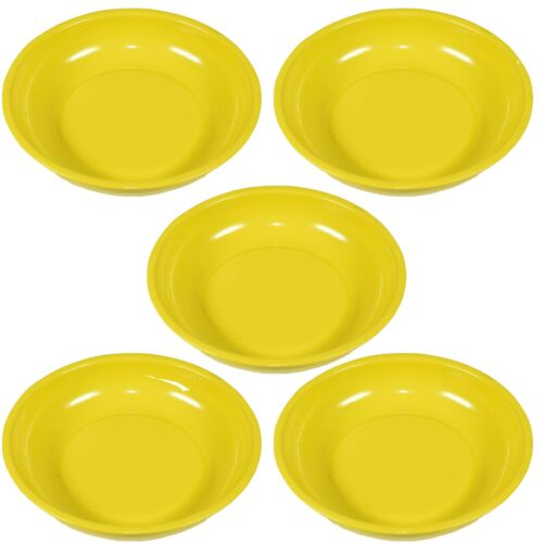 """5 x 4/"""" Magnetic Parts Tray Dish storage Holder Circular Round Stainless Steel"""