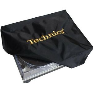 TECHNICS-TURNTABLE-DECK-COVER-GOLD-CLASSIC-DECKG1-Black-Gold-Logo-NEW
