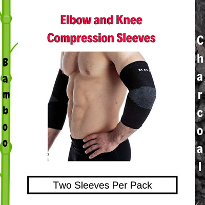 Knee /& Elbow Sleeves Wrist Straps 6pc M Hercules Powerlifting Compression Pack