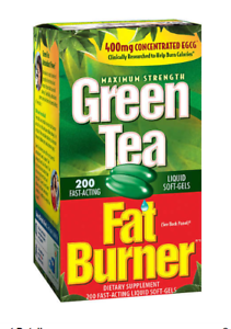 Green Tea Fat Burner, 200 Liquid Soft-Gels
