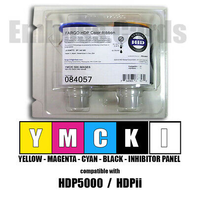 Fargo 84050 084050 YMC Color Ribbon 750 Images for HDPii HDP5000 754563840503
