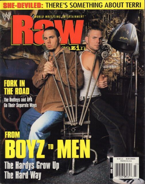 WWE Raw Magazine June 2002 The Hardy Boys, The Dudleys