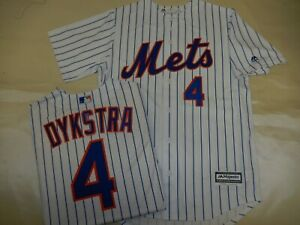 newest 5cc84 65965 Details about 9207 MAJESTIC New York Mets LENNY DYKSTRA Baseball Cool Base  JERSEY New WHT P/S