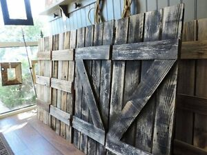 Image Is Loading Reclaimed Barn Wood Window Shutters For 12 Pane
