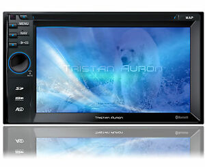BLUETOOTH-AUTORADIO-mit-Bildschirm-2-Din-Doppel-DVD-DAB-readyUSB-MP3-Navigation