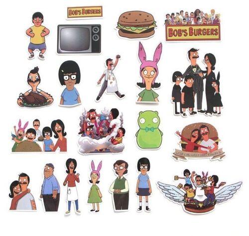 Bob/'s Burgers Cartoon TV Series Decal Stickers Random Assorted Lot Of 21 Pieces